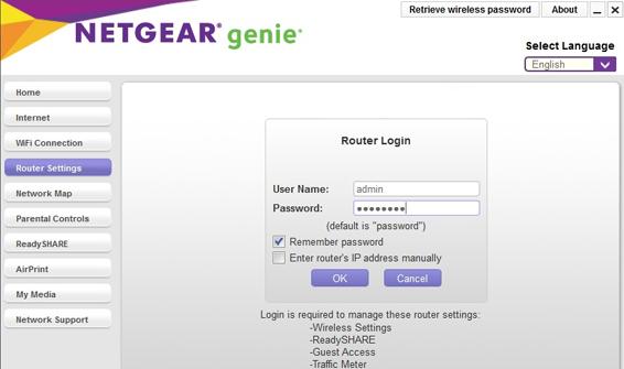 Netgear R7400 Login
